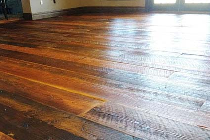 after refinishing this Glouster County floor