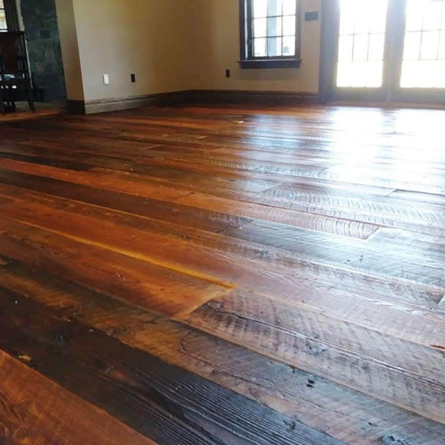 restored Glouster County hardwood floor