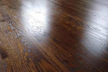 stained and finished wood floor